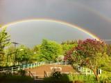 Regenbogen über unserem Reitplatz
